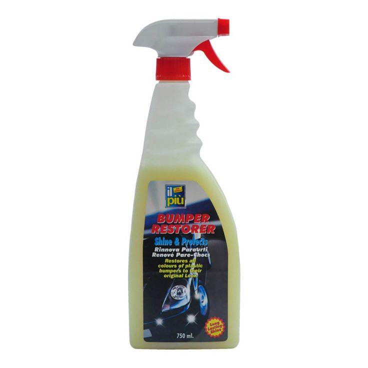 Tampon Temizleyici ve Parlatıcı Pompalı  IL PIU ürünleri ozon ile dosttur.Çevre ve insan sağlığına saygılı Avrupa Birliği EC No 648/2004'e uygundur.İtalya'da üretilmiştir.750ml sprey Tamponlar yan çıtalar ve ayna gibi hava şartları tarafından hasara uğrayan kısımlar içindir.Ürünün yüzeyi üzerinde asla çatlamayacak pul pul dökülmeyecek şekilde bir koruyucu şeffaf bir tabaka meydana getirir.Bütün plastik ve lastik yüzeyleri korumak ve canlandırmak için kullanılır.