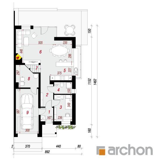 projekt Dom w klematisach 7 (B) rzut parteru