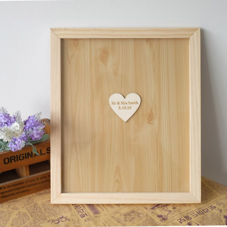 Personalised Wedding Guest book, Custom Drop top Drop box wedding alternative GuestBook with  Hearts, Wedding decoration Gift
