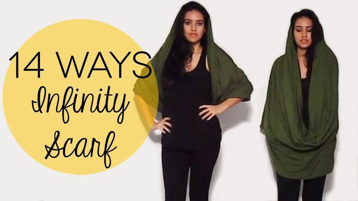 How to Wear an Infinity Scarf 14 Ways