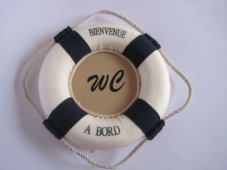d coration marine mer bou e plaque de porte wc diam tre 15. Black Bedroom Furniture Sets. Home Design Ideas