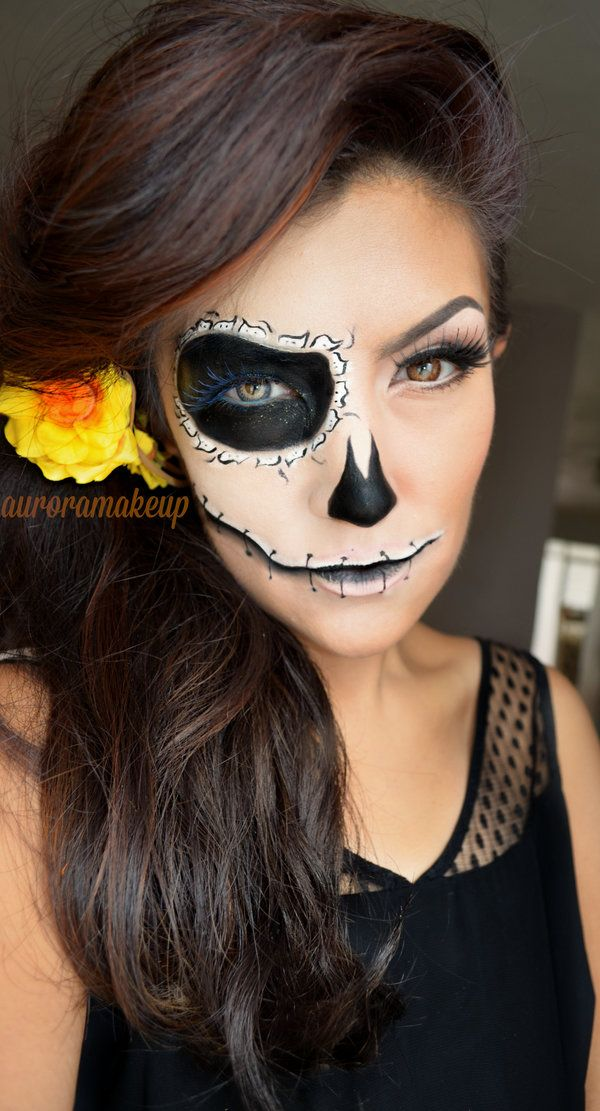 I think I want to try something like this for this year, where I just do one half of my face in makeup