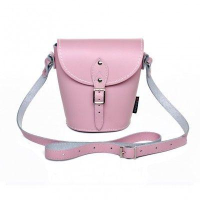 Zatchels Leather Barrel Bag - Pink Oooh I want this!!!    #PodPastel