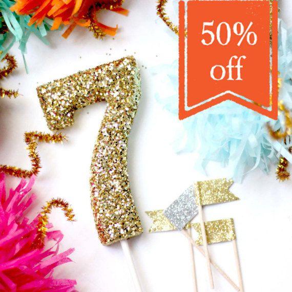 (1) Glittered Number  Was $4.00 NOW $2.00  As seen in Pizzazzerie & Oh Goodie Designs + Events blogs (*photo credits: 3rd photo by Pizzazzerie & 2nd & 4th & 5th image Oh Goodie Designs + Events)  - 4 Tall Topper - Available numbers 0-9 - NOT a candle & glitter is NOT edible. *** Glittered & glued generously. So when excess glitter falls off theres enough so no spot will look uncovered. Just tap or shake to loosen the excess. It amazes me when people find it surprising ...