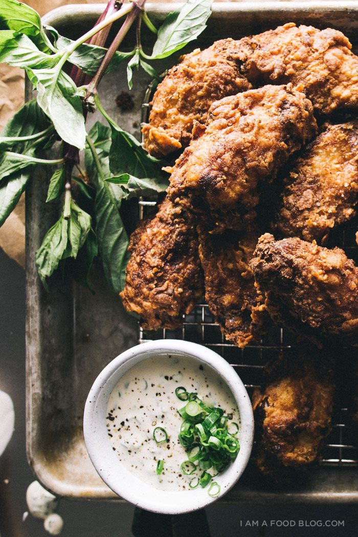 buttermilk fried chicken wings // I am a food blog