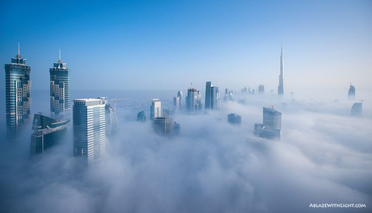 A foggy morning in Downtown Dubai. This is one of almost 2,000 shots I took from this location over a period of 4 hours for making a Timelapse video of the sunrise and the fog rolling in.