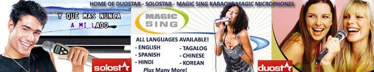 "Magic Sing Karaoke Microphone | Duostar Magic Microphone | Magic Sing | Magic Karaoke Mic | Entertech | Tagalog Magic Mic | Spanish | <strong><span class=""style120""><span class=""style212"">Canciones En Españo</span></span></strong> | Portable Karaoke Systems"