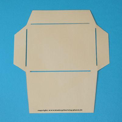 Vorlage selbstgemachter C6-Umschlag (Postkarte passt rein)                                                                                                                                                                                 Mehr