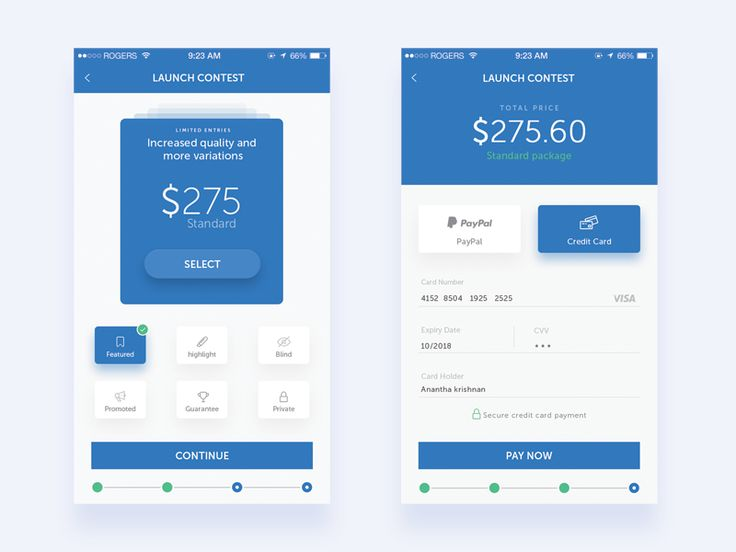 Contest Pricing and Payment Page by Murugesh Palani
