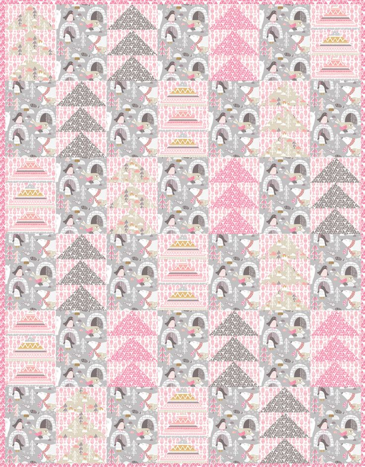 Cute and easy quilt - Arctic Fun pattern by Blend Fabrics