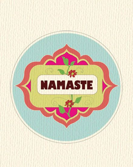 10 Yoga Prints From Etsy to Inspire Your Walls: The colors and happy bloom of this Namaste Floral Ring ($20) would bring an unobstrusive and welcome burst of yoga to any spare wall.
