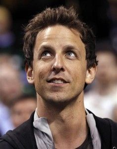 seth meyers. yes this is pinned under this board because i do want him in my closet. :3