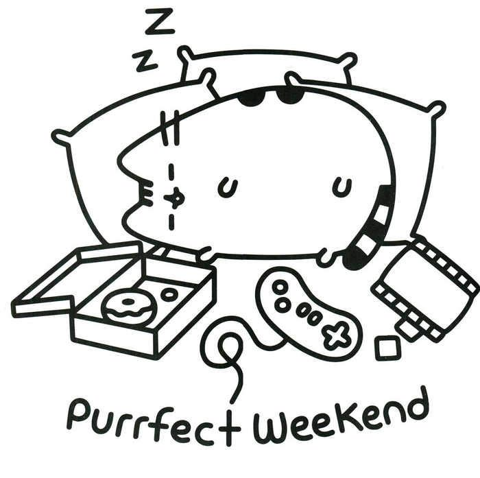 - Pusheen Purrfect Weekend Coloring Page Unicorn Coloring Pages, Cat Coloring  Book, Pusheen Coloring Pages