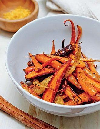 Жареная морковь с тмином и розовым перцем