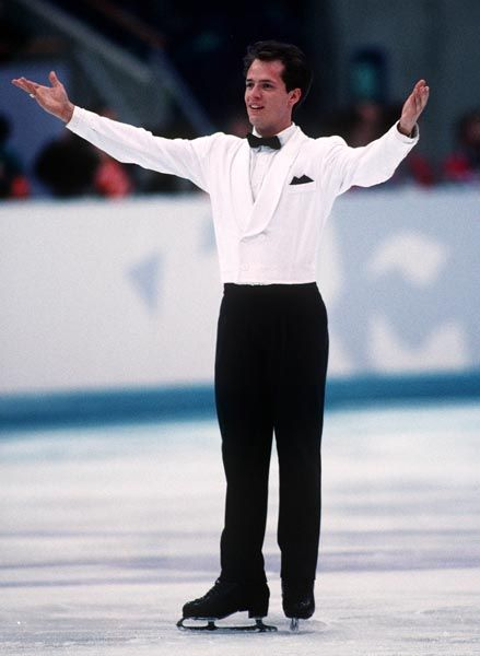 Canada's Kurt Browning competes in the figure skating event at the 1994 Lillehammer Winter Olympics. (CP PHOTO/ COA)