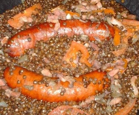 Saucisses - Lentilles, Thermomix