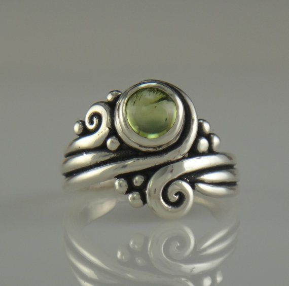 Sterling Silver Peridot RingOne of a Kind by DenimAndDiaJewelry, $240.00