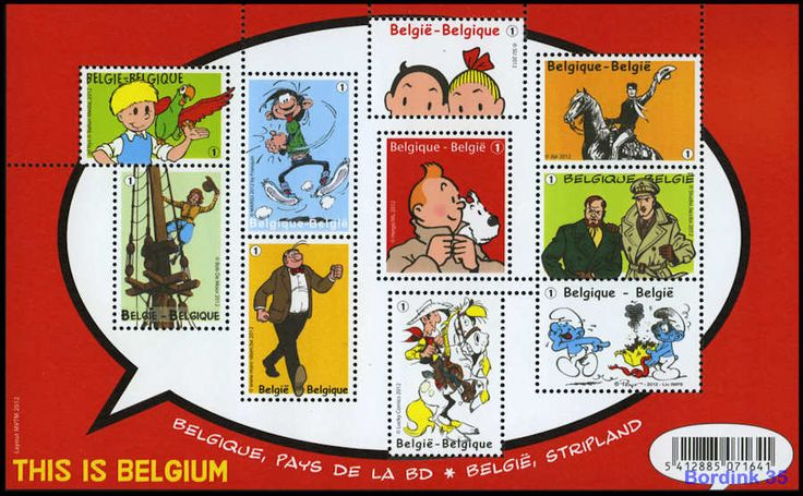 Stamps from Belgium - Comics - This is Belgium - Lucky Luke - Blake & Mortimer - Nero - Tintin