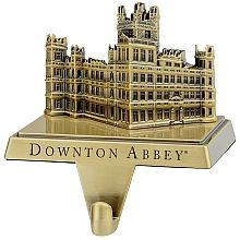 The stockings were hung by the chimney with Carson's care! Add even more elegance to your holiday decor with this antiqued Downton Abbey brass stocking hanger.