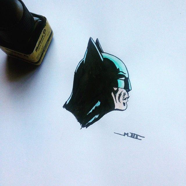 Batman (II). Tinta china y acuarela.