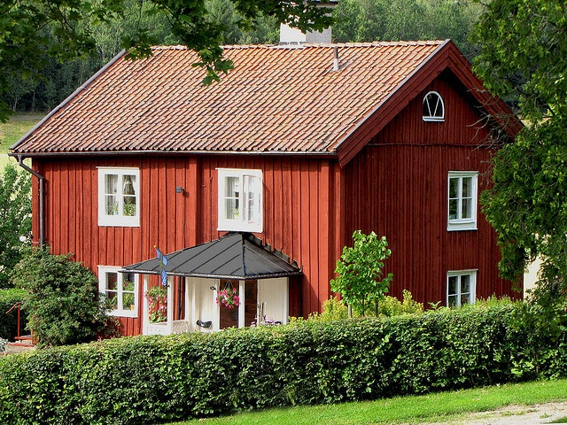 Red Painted Wooden House in Sweden by Olof S, via Flickr