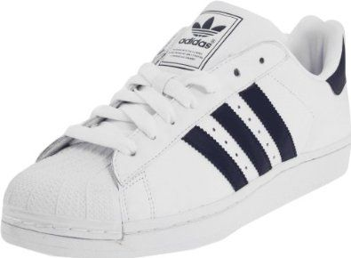 Adidas Originals Men's Superstar 2 Fashion Sneaker,White/New D. Size: 8  D(M) US. Eco-friendly full grain leather upper for comfort and soft feel.