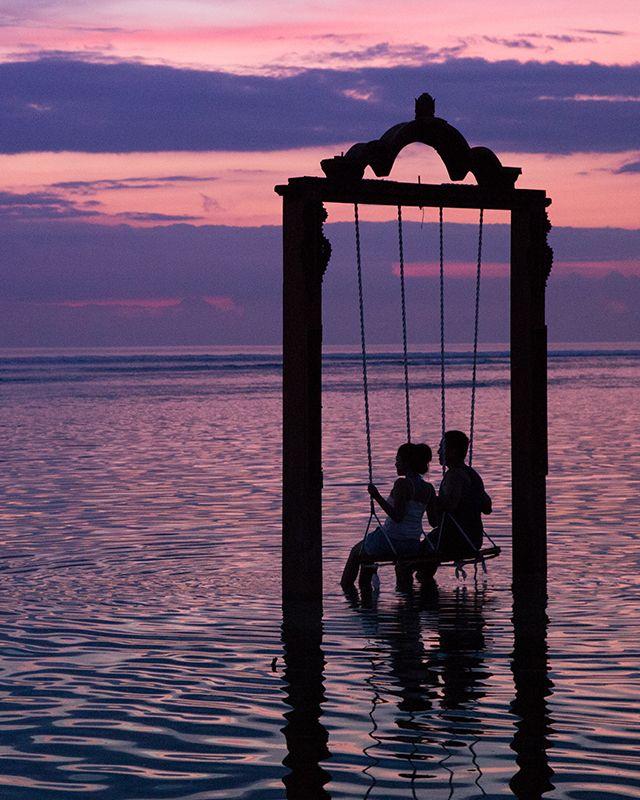 Sunset and romance, Lombok, Indonesia.