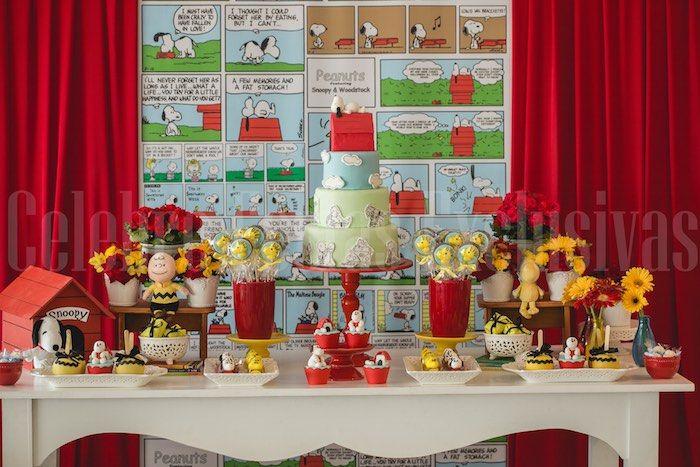 Snoopy themed birthday party via Kara's Party Ideas KarasPartyIdeas.com #snoopyparty (9)