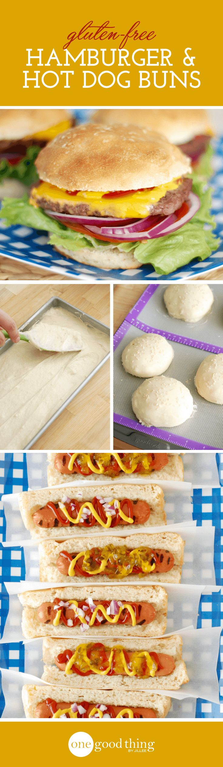 How to Make Delicious Gluten-Free Hamburger and Hot Dog Buns...No, Really! - One Good Thing by Jillee