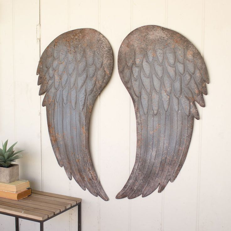 Good Metal Wings Wall Plaque   Set Of 2   Unique Modern Furniture   Dot U0026 Bo Nice Look