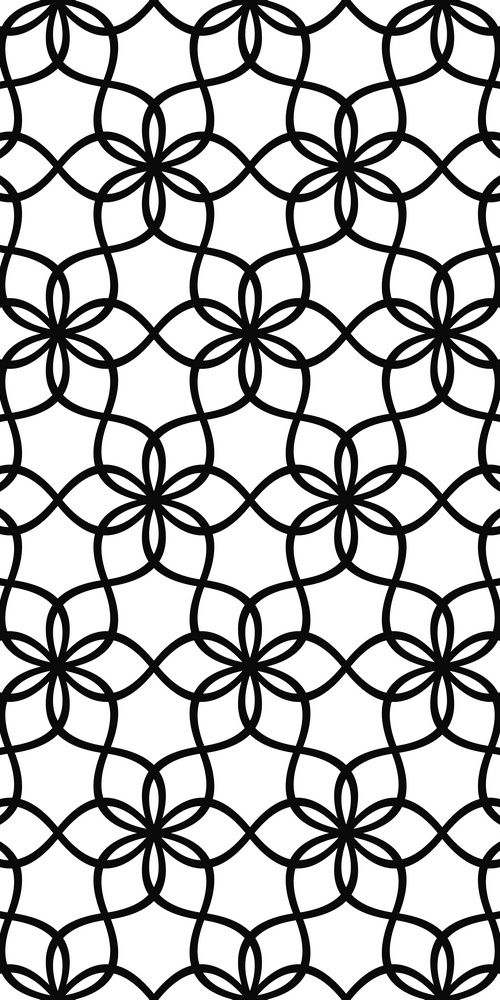 Repeat monochrome hexagonal vector wave line pattern design