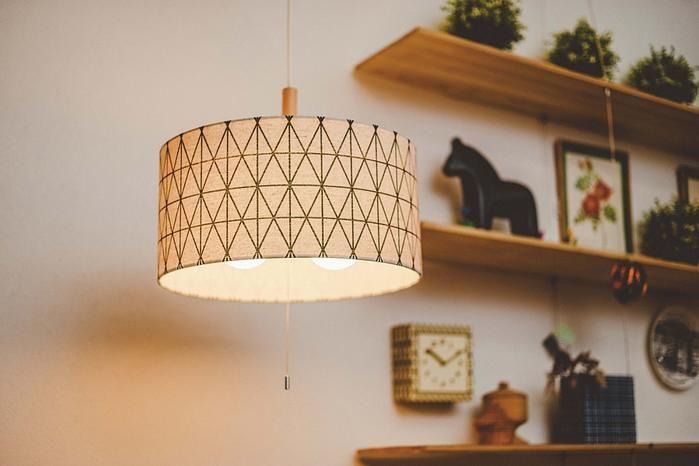056-Banin_ペンダントライト(アイボリー/LED電球付き):北欧,ミッドセンチュリー,ベージュ・アイボリー系,Home's Style(ホームズスタイル)の天井照明の画像