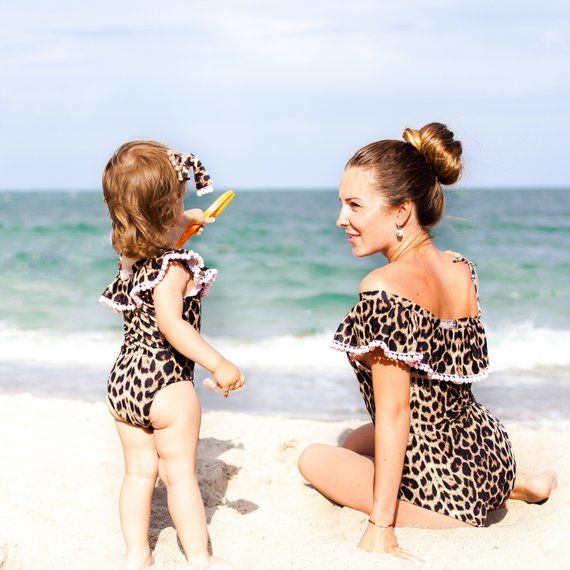 Leopard swimsuit, two pieces swimsuit for girls, animal print swimsuit, bikini bottoms, toddler leopard swimsuit, one piece swimsuit