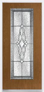 Oak Grain Fiberglass Door with Classic Glass f2064o-a