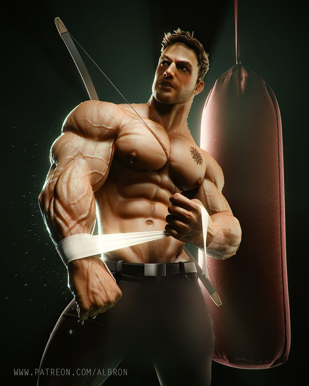 Muscle gay 3d