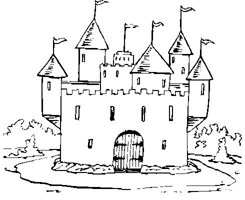 medieval coloring pages for kids Themes Castle