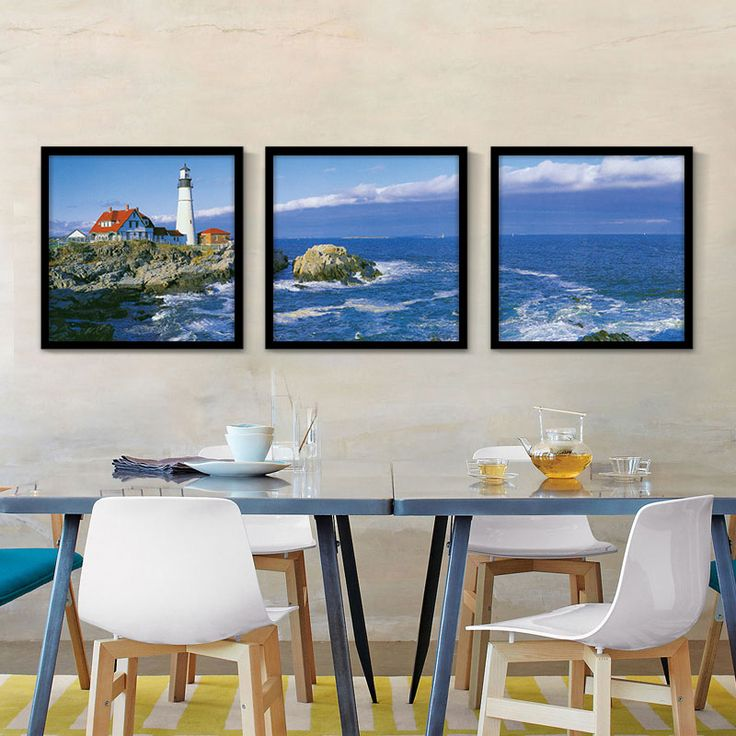 Modern Style Seaview Posters Wall Decor Painting Landscape Art Canvas Pictures Print For Living Room Home Decor No frame