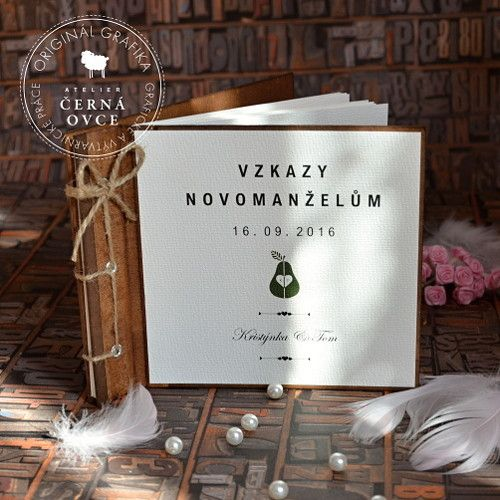 Svatební vintage kniha - na vzkazy / Zboží prodejce Atelier Černá ovce | Fler.cz