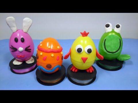 ¡Huevos de pascua de animalitos con sorpresas Disney! / Easter eggs of...