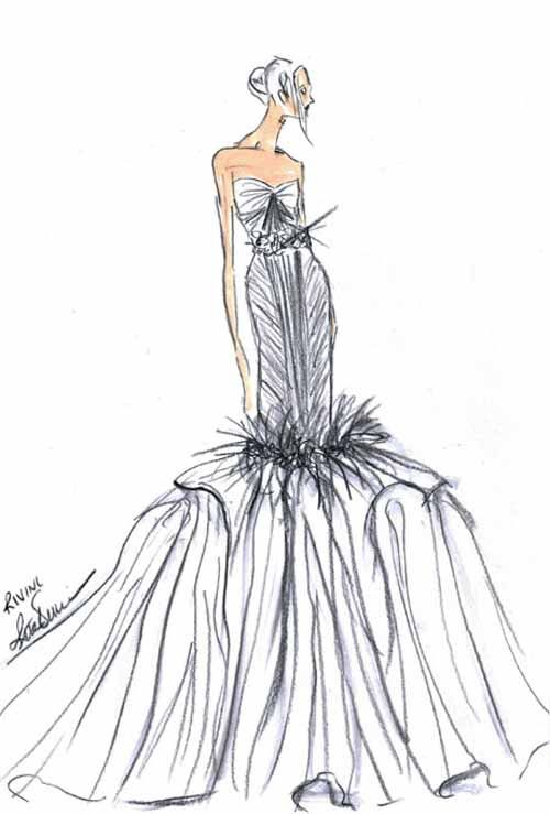 41 Best Images About Sketch A Dress On Pinterest | Dress Sketches Davids Bridal And Short Dresses