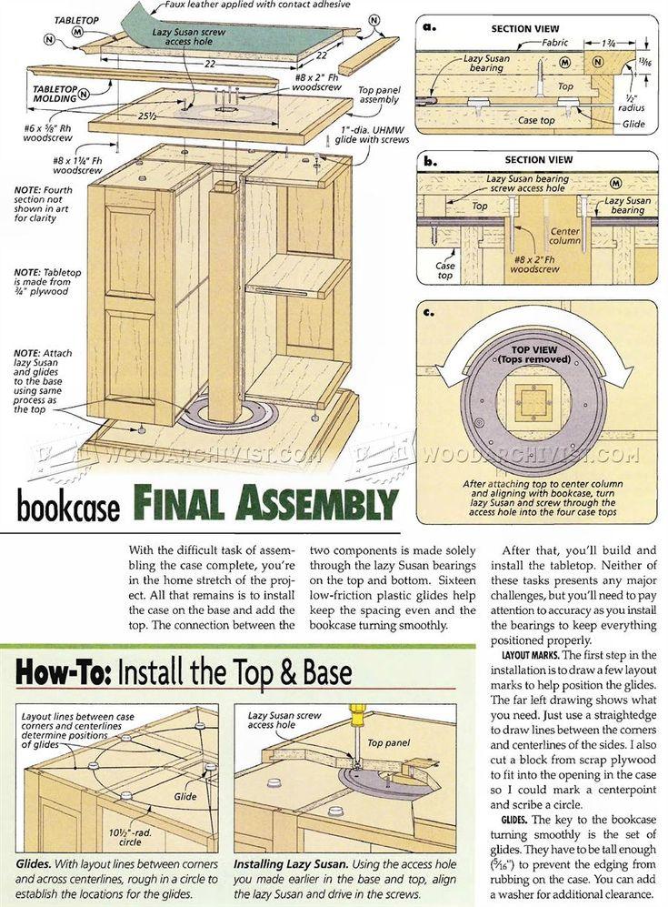 Revolving Bookcase Plans - Furniture Plans