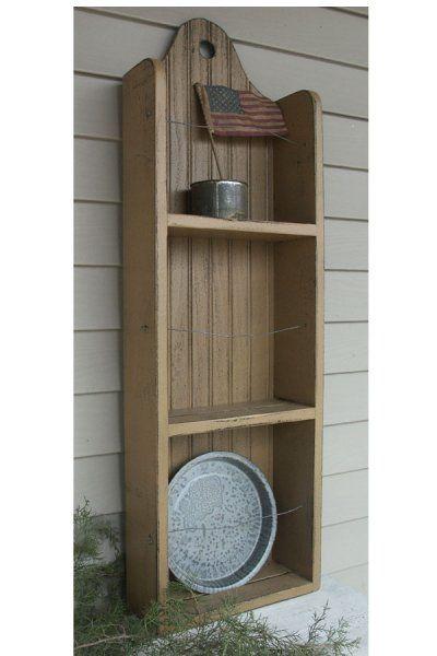 Primitive Wood Craft Ideas | ... ::. PatternMart: PM131 Primitive Tombstone Plate Rack Shelf Pattern