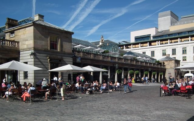 Covent Garden in the Summer.