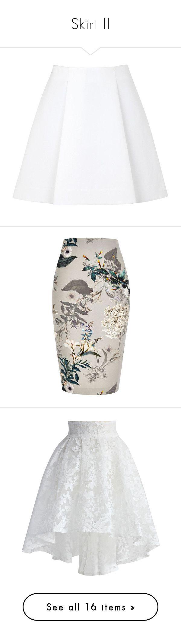 """Skirt II"" by yendry-mariela-garcia-perez ❤ liked on Polyvore featuring skirts, bottoms, faldas, saias, jupe, 3.1 phillip lim skirt, cotton slip, cotton skirts, slip skirt and 3.1 phillip lim"