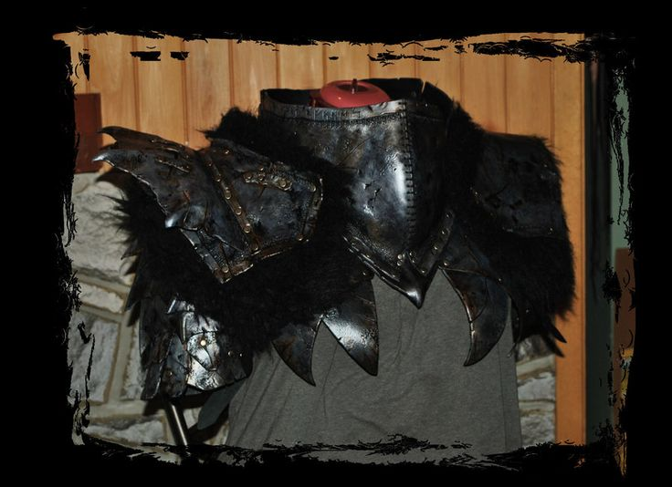 orc armor upper part front view by Lagueuse