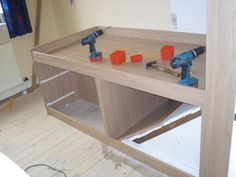 build bed over stair box - Google Search. Great idea for smaller rooms incorporating the area over stairs