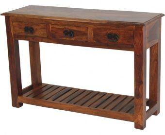 Indiai tömörfa konzolasztal  76x 115 x 37 cm.