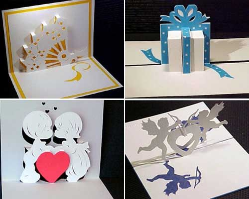 147 best images about cards on pinterest papercraft for Kirigami christmas card