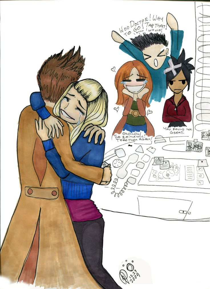 Journey's End Reunion by ~lamarnza on deviantART (aww, but wasn't Martha happy for them? :/)