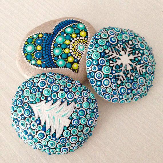 Painted rock Snowflake Christmas snowflake winter